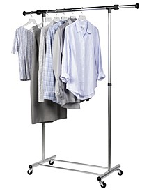 Home Solution Frosty Rolling Garment Rack