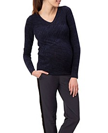 Stowaway Collection Multi-Directional Maternity Sweater