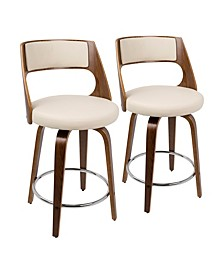 "Cecina 24"" Counter Stool, Set of 2"