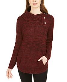 Envelope Neck Kangaroo Pocket Knit Sweater, Created for Macy's