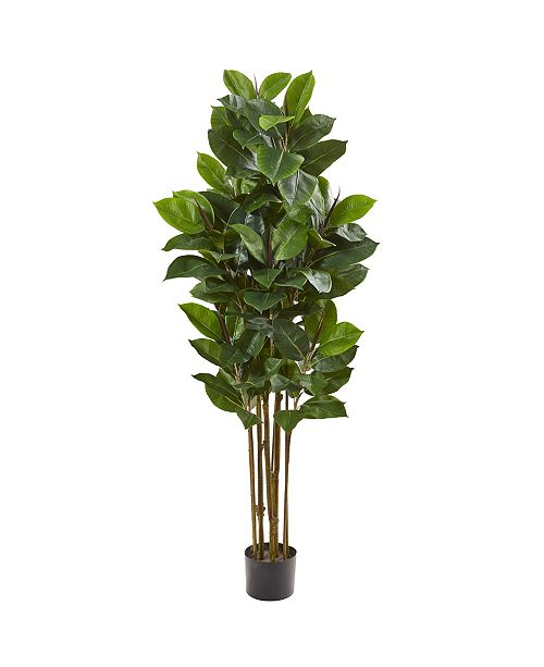 "Nearly Natural 58"" Rubber Leaf Artificial Tree"