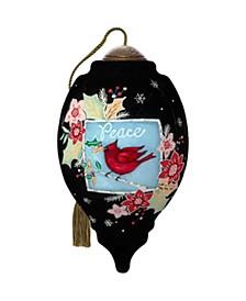 The NeQwa ArtPeace Cardinal hand-painted blown glass Christmas ornament