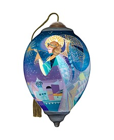 The NeQwa Art A Christmas Angel hand-painted blown glass Christmas Ornament
