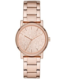Women's Soho Rose Gold-Tone Stainless Steel Bracelet Watch 34mm
