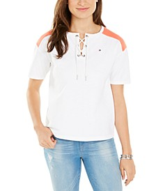 Lace-Up Top, Created For Macy's
