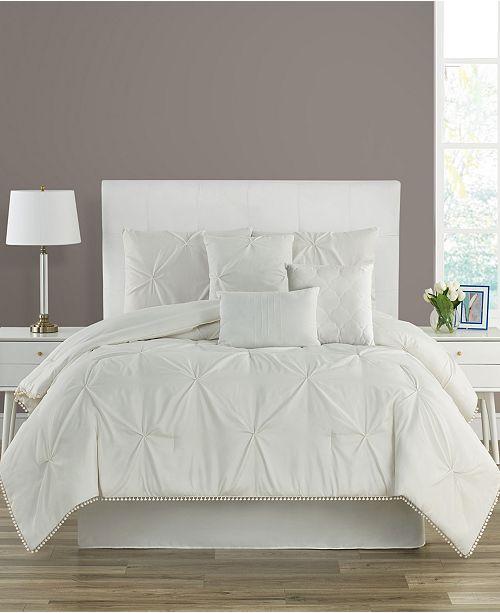 Sanders Pom-Pom King 7 Piece Comforter Set