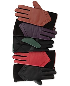 Isotoner Signature Women's Leather and Suede smarTouch® Gloves With Plush Lining