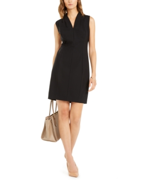 Elie Tahari Dresses AMABEL V-NECK SHEATH DRESS