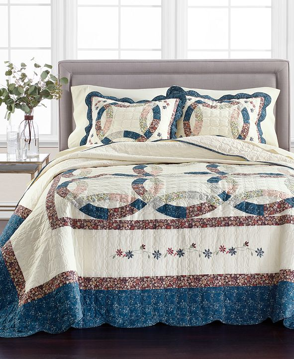Martha Stewart Collection Wedding Rings Full Bedspread, Created for Macy's