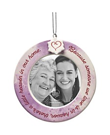 Precious Moments Because Someone We Love Is In Heaven There's A Little Heaven In Our Home Ceramic Memorial Photo Frame Ornament