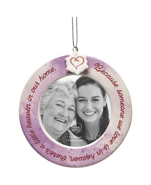 Ne'Qwa Precious Moments Because Someone We Love Is In Heaven There's A Little Heaven In Our Home Ceramic Memorial Photo Frame Ornament