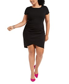 Derek Heart Trendy Plus Size Tulip-Hem Bodycon Dress