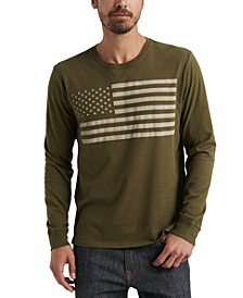 Men's American Flag Long-Sleeve T-Shirt