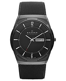 Skagen Men's Melbye Black Titanium Mesh Bracelet Watch 40mm SKW6006