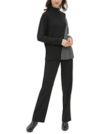 Calvin Klein Colorblocked Mock-Neck Sweater