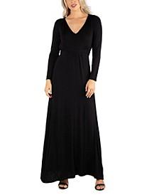 Women's Semi Formal Long Sleeve Maxi Dress