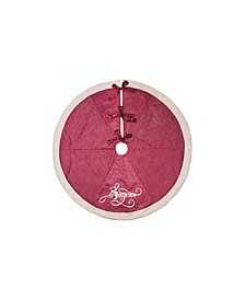 "Joyeux Christmas Tree Skirt, 56"" Round"