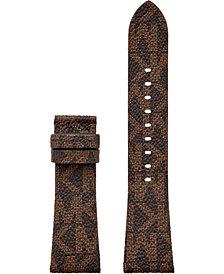 Michael Kors Access Bradshaw 2 Brown Logo Leather Smart Watch Strap