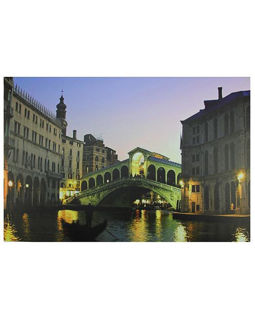 "Northlight LED Lighted Venice Italy Grand Canal Canvas Wall Art, 15.75"" x 23.5"""