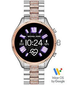 Access Lexington 2 Glitz Two-Tone Stainless Steel Bracelet Touchscreen Smart Watch 44mm, Powered by Wear OS by Google™