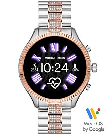 Michael Kors Access Lexington 2 Glitz Two-Tone Stainless Steel Bracelet Touchscreen Smart Watch 44mm, Powered by Wear OS by Google™