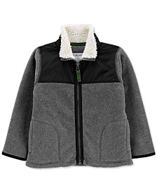 Carter's Toddler Boys Fleece Jacket With Faux-Sherpa Trim