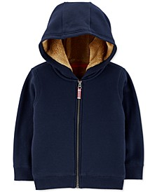 Toddler Boys Fleece-Lined Zip-Up Hoodie