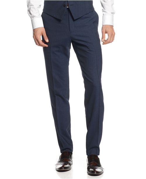 5092fb02a44 Bar III Slim-Fit Midnight Blue Shawl Collar Tuxedo Separates ...