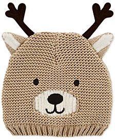 Baby Boys & Girls Knit Reindeer Hat