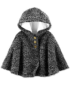 Baby Girls Hooded Faux-Fur-Lined Cape