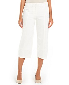 Petite Top-Stitched Culottes, Created For Macy's
