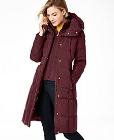 Box-Quilt Down Puffer Coat