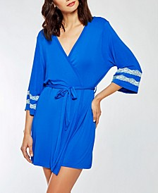 Comfy Modal Knit Ultra Soft Day and Night Robe with Contrast Lace