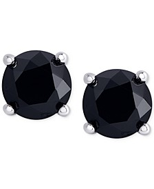 Black Diamond Stud Earrings (1 ct. t.w.) in Sterling Silver