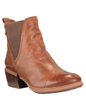 Timberland WOMEN'S SUTHERLIN BAY SLOUCH CHELSEA LEATHER BOOTS WOMEN'S SHOES