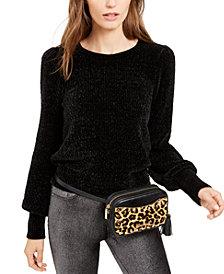 Michael Michael Kors Chenille Balloon-Sleeve Sweater, Regular & Petite Sizes, Created for Macy's