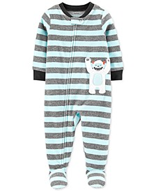 Baby Boys 1-Pc. Abominable Snowman Fleece Footie Pajamas