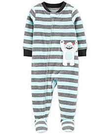Baby Boys 1-Pc. Abominable Snowman Fleece Footie Pajamas