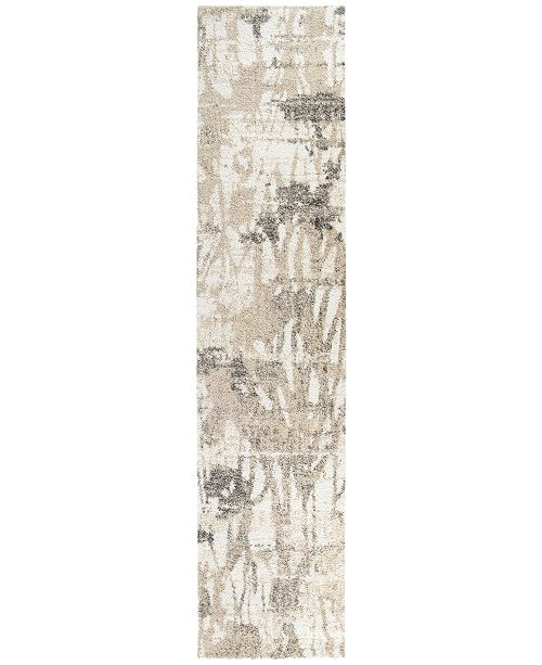 "Palmetto Living ORI408508 Mystical Abstract Canopy Natural 2'3"" x 8' Runner Rug"