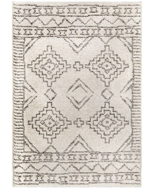"Palmetto Living Casablanca Tribal 03 Pewter 7'10"" x 10'10"" Area Rug"