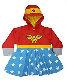 Little and Big Girl's Wonder Woman Rain Coat