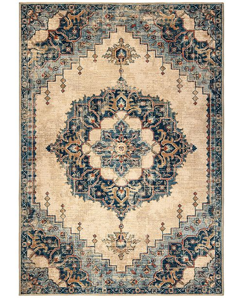 "Palmetto Living Alexandria Hamton Court Pale Blue 7'8"" x 10'10"" Area Rug"