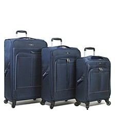 Apollo 3-Pc. Softside Spinner Luggage Set