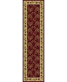 "CLOSEOUT! 1427/1734/BURGUNDY Navelli Red 2'2"" x 8' Runner Rug"