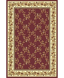 """CLOSEOUT! 1427/1730/BURGUNDY Navelli Red 3'3"""" x 5'4"""" Area Rug"""