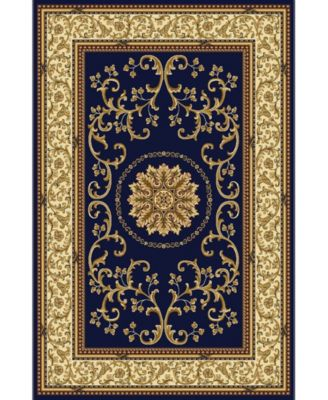 """CLOSEOUT! 1419/1342/NAVY Navelli Blue 7'9"""" x 9'6"""" Area Rug"""