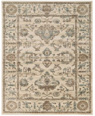 "CLOSEOUT! 3562/0020/BONE Cantu Ivory/ Cream 3'3"" x 4'11"" Area Rug"