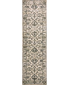 "CLOSEOUT! 3562/0023/BONE Cantu Ivory/ Cream 2'2"" x 7'7"" Runner Rug"