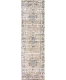 "CLOSEOUT! 3563/0023/BONE Cantu Ivory/ Cream 2'2"" x 7'7"" Runner Rug"