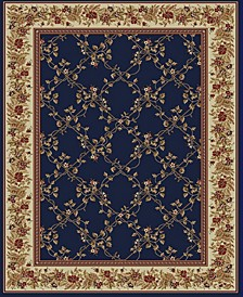 "CLOSEOUT! 1590/4002/NAVY Pesaro Blue 5'5"" x 7'7"" Area Rug"